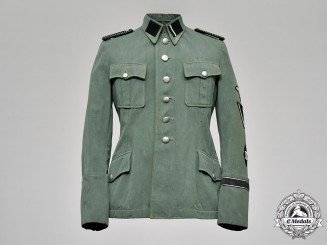 Germany, SS. An SS Sicherheitsdienst (Security Service) Sturmmann's Service Tunic