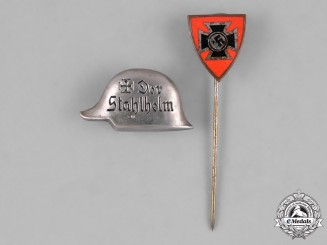 Germany. Two Miniature Membership Badges and Stick Pins