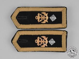 Germany, Kriegsmarine. A Pair of Feldwebel Teletypist Shoulder Board