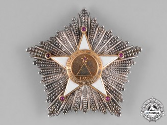 Cameroon, Republic. An Order of Valour, I Class, Grand Cross Star, by Arthus Bertrand, c.1960