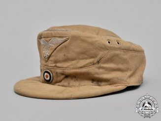 Germany, Luftwaffe. An Officer's M43 Tropical Field Cap