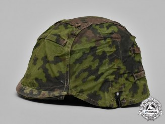 Germany, Waffen-SS. A Waffen-SS Camouflage Helmet Cover