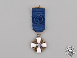 Finland, Republic. A Miniature Order of the White Rose, Knight I Class