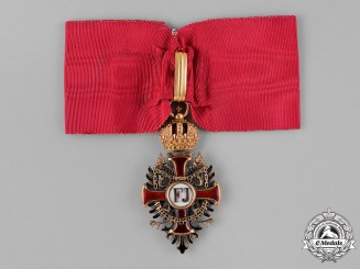 Austria, Empire. An Order of Franz Joseph in Gold, Commander Cross, by Vincent Mayer's Söhne, c.1900