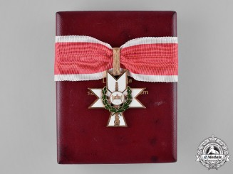 Croatia, Independent State. An Order of the Crown of King Zvonimir, I Class Cross, with Oak Leaves, by B. Knaus, c.1941