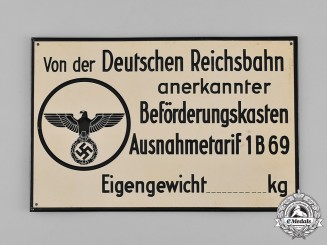 Germany, Reichsbahn. A National Railway Sign