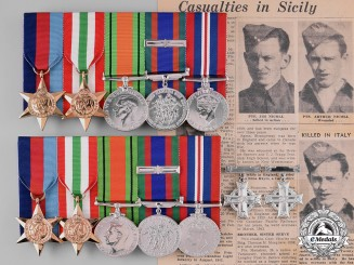 Canada. The Awards & Documents of Brothers Private James & Arthur Nicol, KIA