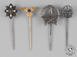 Germany, Third Reich. A Lot of Third Reich Period Veterans Stick Pins