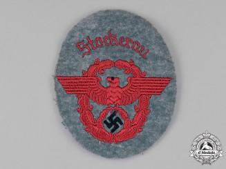 Germany, Gemeindepolizei. A Stockerau Gemeindepolizei (Municipal Police) EM/NCO's Sleeve Insignia