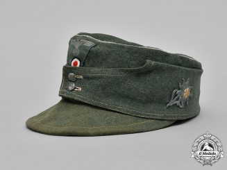 Germany, Heer. A Gebirgsjäger (Mountain Troops) M43 Officer's Field Cap