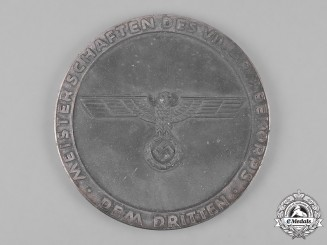 Germany, Wehrmacht. A Championship of the VII Army Corps Table Medal, Third Place for Shot Put