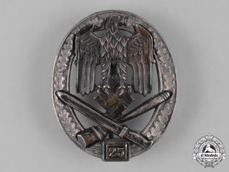 Germany, Wehrmacht. A General Assault Badge, Special Grade 25, by Rudolf Karneth & Sohne