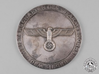 Germany, Wehrmacht. A Championship of the VII Army Corps Table Medal, Winner for Pole Vault