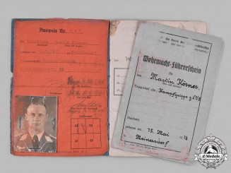 Germany, Luftwaffe. A Pair of Documents Belonging to Knight's Cross Recipient Martin Körner