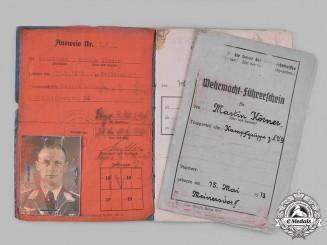 Germany, Luftwaffe. A Pair of Documents Belonging to Knight's Cross Recipient Martin Körner