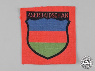 Germany, Wehrmacht. A Wehrmacht Azerbaijani Volunteer First Pattern Arm Shield