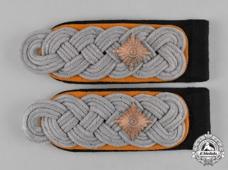 Germany, SS. A Pair of Feldgendarmerie Obersturmführer Shoulder Boards