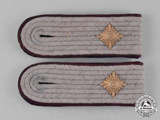 Germany, SS. A Pair of Smoke Troops Obersturmführer Shoulder Boards