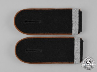 Germany, SS. A Pair of Unterführer Anwärter (NCO Candidate) Shoulder Straps