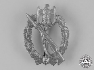 Germany, Heer. An Infantry Assault Badge, Silver Grade, by E. Ferdinand Wiedmann