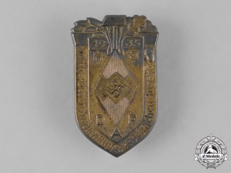 Germany, HJ. A 1935 HJ National Trade Competition Badge by Ferdinand Hoffstätter