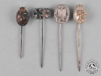 Germany, Third Reich. A Collection of Second War Period Miniature Stickpins