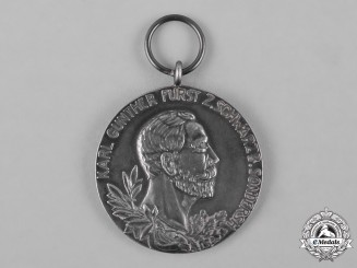 Schwarzburg-Sonderhausen, Principality. A Commemorative Medal for 25 Year Reign