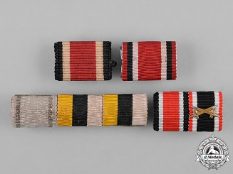 Germany, Wehrmacht. A Lot of First & Second War Period Medal Bars