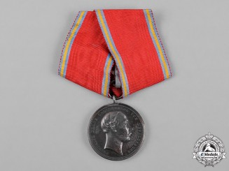 Mecklenburg-Schwerin, State. A Merit Medal, Military Type for Honourable Deeds, by W. Kullrich, c.1900
