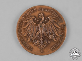 Prussia, Kingdom. A Chamber of Agriculture for the Province of Brandenburg Medal