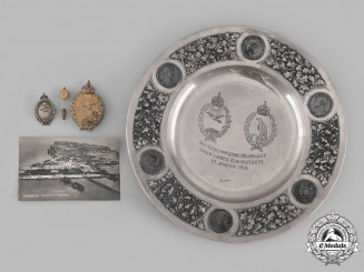 Germany, Imperial. A Superb Silver Flight School Award Plate & Silver Naval Sea Pilots Badges to Ernst Lupri, c.1916