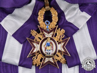 Spain, Kingdom. A Royal Order of Queen Maria Luisa in Gold, Grand Cross Badge, c.1875