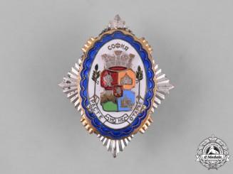 Bulgaria, Kingdom. A City of Sofia Civic Coat-of-Arms Badge