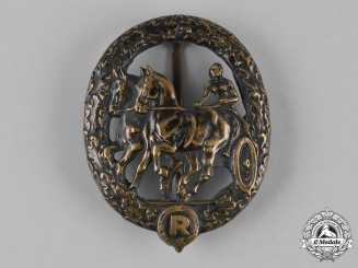 Germany, Third Reich. A German Horse Driver's Badge, Bronze Grade, by L. Christian Lauer