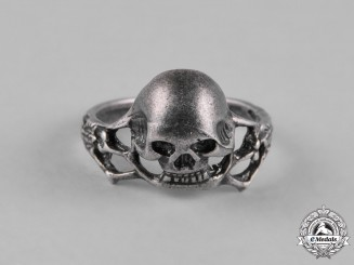 Germany, Third Reich. A Third Reich Period Skull Ring