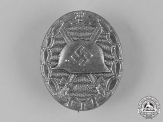 Germany, Wehrmacht. A Silver Grade Wound Badge by Moritz Hausch