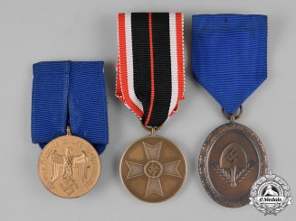 Germany, Third Reich. A Lot of  Service Medals