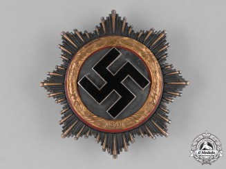Germany, Wehrmacht. A German Cross in Gold by C.F. Zimmermann