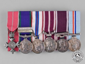 United Kingdom. An OBE Arabian Peninsula & Rhodesia Service Army Miniature Group