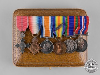 Canada. A Miniature OBE First & Second War Group