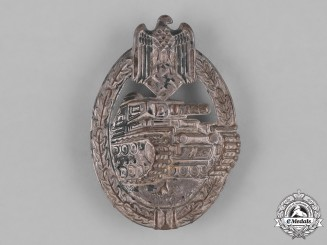Germany, Wehrmacht. An Early Panzer Assault Badge, Silver Grade, by Mayer