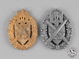 Germany, Heer. A Pair of Heer (Army) Marksmanship Lanyard Badges