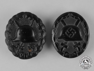 Germany, Wehrmacht. A Pair of Black Grade Wound Badges