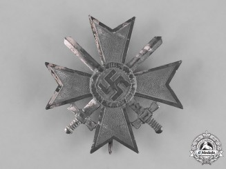 Germany, Wehrmacht. A War Merit Cross, Silver Grade with Swords, by Wilhelm Deumer