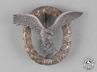 Germany, Luftwaffe. A Luftwaffe Pilot's Badge by Friedrich Linden