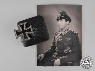 Germany, Wehrmacht. A 1939 Iron Cross I Class by Steinhauer & Lück, with Photographs, to Franz Willmes
