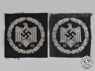 Germany, DRL. A Pair of DRL Silver Sports Badges, Cloth Version