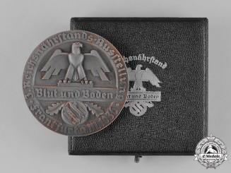 Germany, RNST. A Cased 1936 Reichsnährstand (RNST) Frankfurt Cheesemaking Medallion