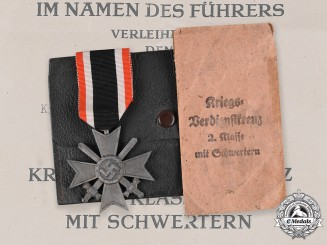 Germany, Wehrmacht. A War Merit Cross, II Class with Swords, by Moritz Hausch