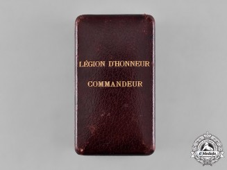 France, III Republic. An Order of the Legion of Honour, III Class Commander Case, c.1900